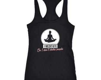 Meditation Racerback Tank Top T-Shirt. Funny Meditation Tank.