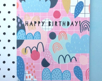 Happy Birthday! Abstract patterned birthday card