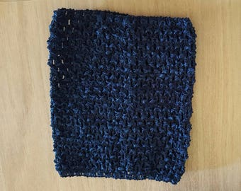 STRAPLESS stretch Navy crochet for baby 0-16 month tutu dress creation