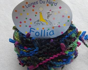 Laines Du Nord Follia yarn 1 ball black multi