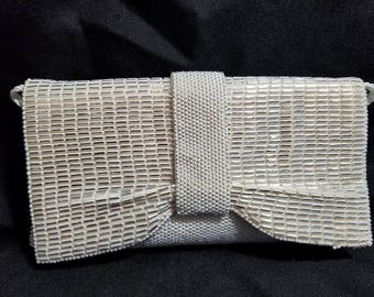 1960's white clutch