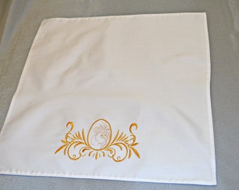 Easter Embroidered Napkins, easter decorations, easter gift, easter eggs, coasters gift for mom Hostess Gifts Fabric coasters gift for nurse