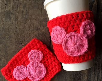 Valentines Mickey Mouse Coffee Cozy