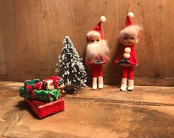Kitsch Santa ~ Vintage Ornaments  ~ Kitschy Santa Claus ~ Vintage Ornament ~ Vintage Christmas Decorations ~ Vintage Christmas Tree