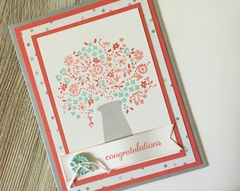 Congratulations Cards - Celebration Cards / Handmade Greeting Cards - Stampin Up Greeting Cards - Personalized Greeting Cards