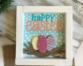 Happy Easter // Mini Easter decor //Easter Eggs // spring decor // Easter Gift // Ready to Ship!
