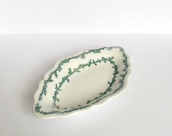 1880s Trinket Bowl, Grindley China, Dressing table, Grindley Plate, w h grindley, 1800s porcelain, 1800s china, china trinket dish