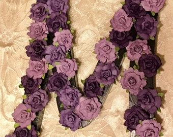 Custom Floral Monogram Italicized Letter