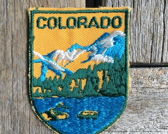 LAST ONE! Colorado Vintage Souvenir Travel Patch from Voyager