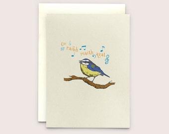 """Go Raibh Maith Agat - Irish language Greeting Card translates as """"Thank You"""""""