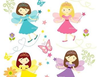 ON SALE girl clipart cute fairy clipart '- Digital clipart, fairy girls clipart, instant download