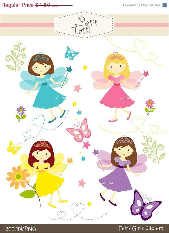on sale girl clipart cute fairy clipart digital rh etsy com free clip art images free cliparts