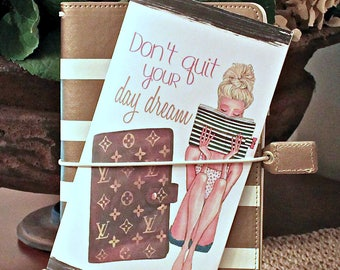 Travelers Dashboard, Planner Girl Louis Vuitton Planner Dashboard, TN Inserts, Stylish TN Cover, Foxy Fix, Travelers Gift, Midori Dashboard