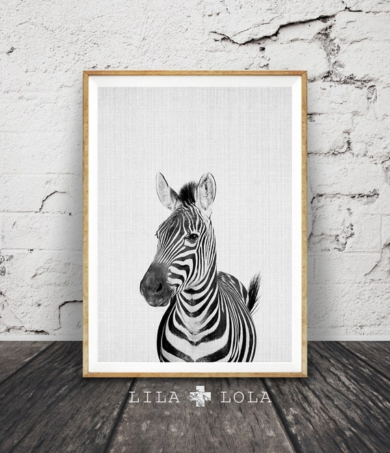 Zebra Print, Safari Nursery Wall Art, African Animal, Black and White Decor, Printable Poster, Modern Minimalist Digital Download, Kids Room