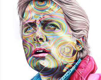 """Custom Portrait of Marty McFly Back to the Future     - Print 14"""" X 11"""""""