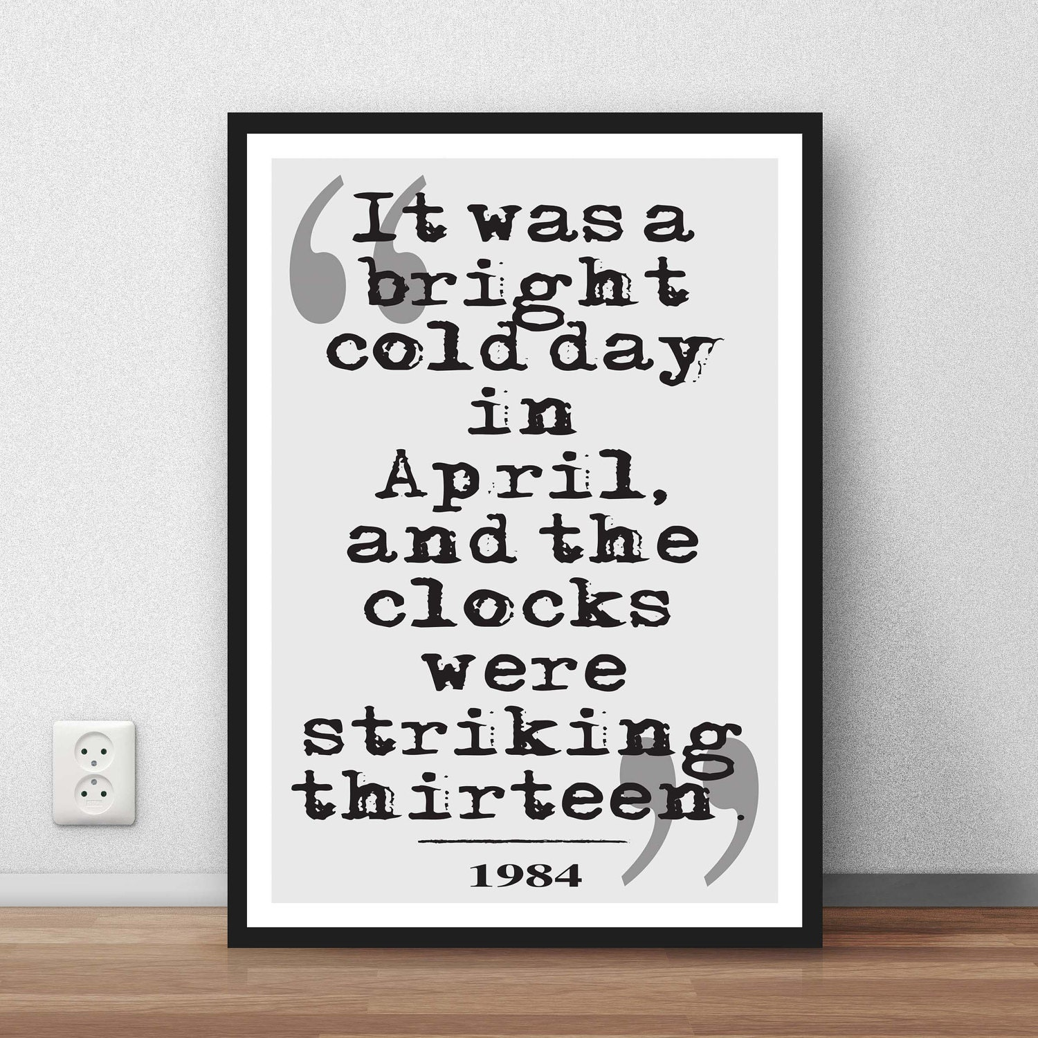 George Orwell 1984 Quotes George Orwell Quote It Was A Bright Cold Day In
