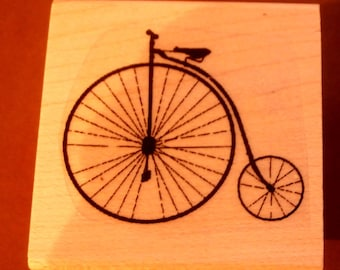 Antique bicycle WM rubber stamp P16