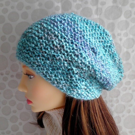Womans Slouch Hat KNITTING PATTERN Easy Beanie Pattern Womans