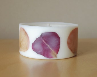 Rose Soy Wax Pillar Candle (Small)