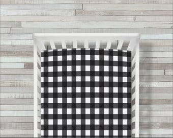 Buffalo Plaid Crib Sheet, Fitted Crib Bedding, Buffalo Plaid Crib Bedding, Toddler Crib Sheet, Buffalo & Buck
