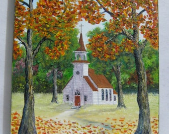 Autumn Peace Original Oil Painting