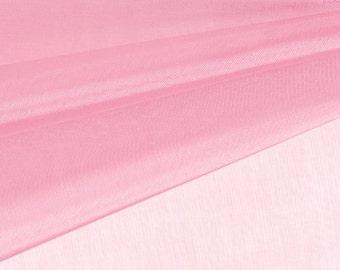 Pink Organza Fabric by the Yard, Wedding Decoration Organza Fabric, Sheer Fabric - Style 1901