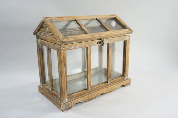 Indoor Greenhouse, Tabletop Glass Greenhouse, Plant Terrarium, Window Pane  Glass Roof House, Wood U0026 Glass Greenhouse, Roof Top Opens From Meghandrago  On ...