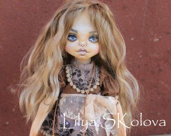 Textile doll art personalized doll interior doll fabric doll portrait doll cloth textile doll текстильная кукла selfie doll portrait doll