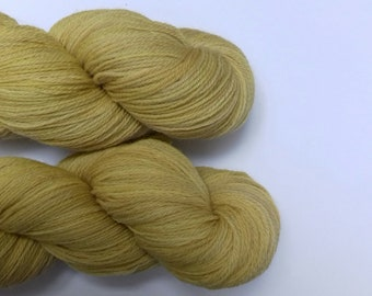 Hand dyed yarn, merino, 4ply, bright yellow, naturally dyed, MER500/Y/1