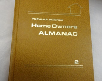 Home Owners Almanac from 1972. A Hard Bound Book
