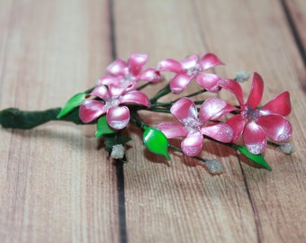 Beautiful Hairpin, Brooch Pink Flowers, Gift for Women, Gift for a Girl, Gift for a Mom