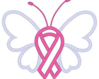 Custom Color Ribbon Butterfly Vinyl Decal