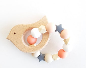 Peachy model personalized teething ring