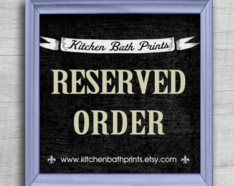 RESERVED ORDER - 7 - 8x10  prints