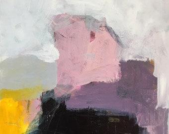 original abstract painting modern art purple abstract yellow abstract landscape pamela munger