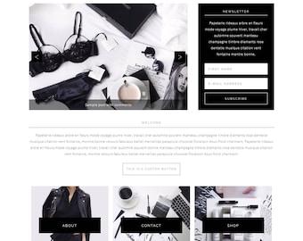 Camille - Feminine WordPress Theme - Genesis Child Theme - SEO - Responsive - Static Front Page - Slider - Ecommerce - Portfolio - Blog