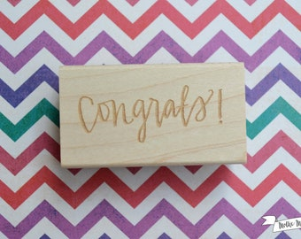 Congrats Calligraphy Rubber Stamp