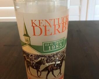 Kentucky Derby 1985 drinking glass 111th derby Julep Glass
