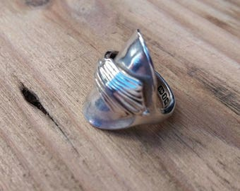 Ladies - Vintage Silver Spoon Ring - Upcycled Jewelry - Size E 1/2 (UK) Tiny