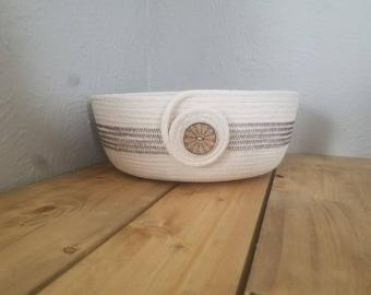 Handmade Coiled Rope Basket/Bowl