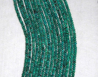 Turquoise, Turquoise Rondelle, Smooth Rondelle, Natural Turquoise, Natural Stone, Blue Green Bead, Full Strand, 5mm