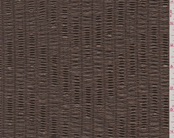 Mocha Brown Textured Knit, Fabric By The Yard