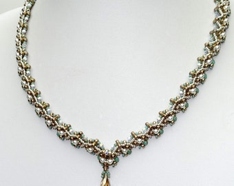 ANET TRINITY and OBeads Beadwork Necklace Pdf tutorial instructions for personal use only