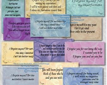 Affirmations- Forgiveness Affirmation Cards- Swirl Design