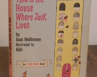 This is the House Where Jack Lives Vintage Children's Hardcover Book 1962