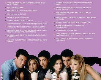 """Friends - Everything I Know in Life - 24x36"""" Poster"""