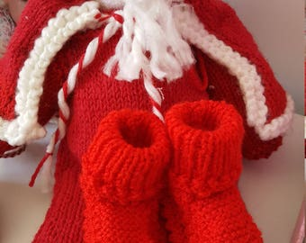 Christmas is coming and to put chocolates in Santa Boot.