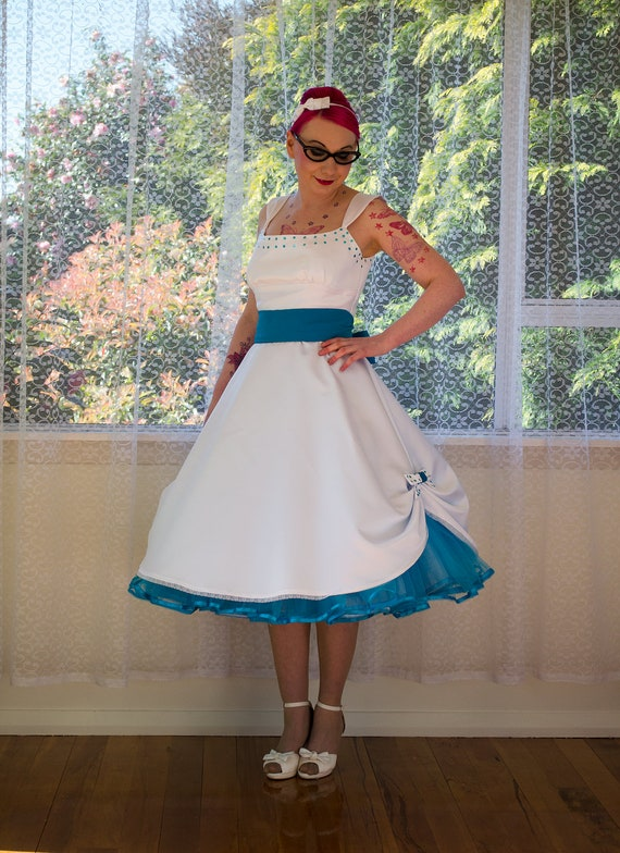 Tea Length Dress with Petticoat