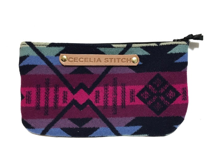 Spring NW Wool & Leather Clutch
