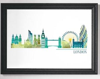 London Print, London Poster, London Art, Prints, Wall Art, Minimalist City Poster, Modern Art, Scandinavian Prints, Minimalist Wall Print